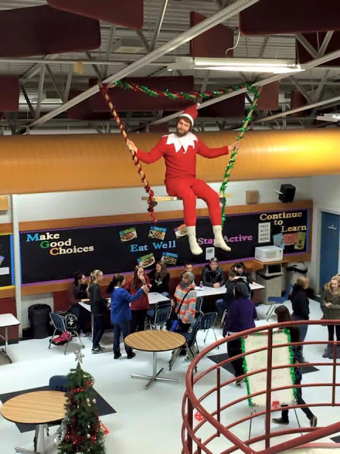 real live elf on the shelf principal elementary school