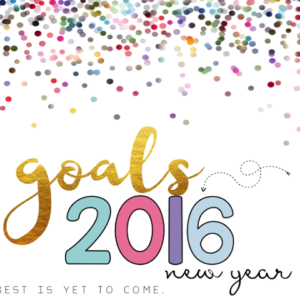 Goals for 2016!