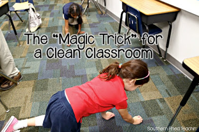 """Attention teachers! This is THE easiest way to get your students to clean the classroom at the end of the day. Students love and beg for the """"game""""!"""