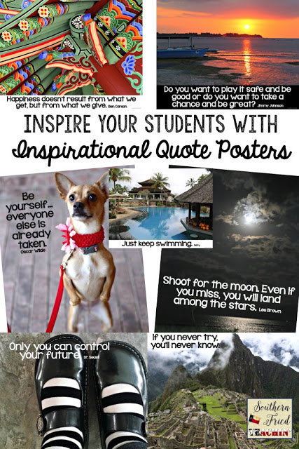 TEN different ways to inspire and motivate your students. Turn your classroom into a place of inspiration and motivation...inspiring them to be the best that they can be.