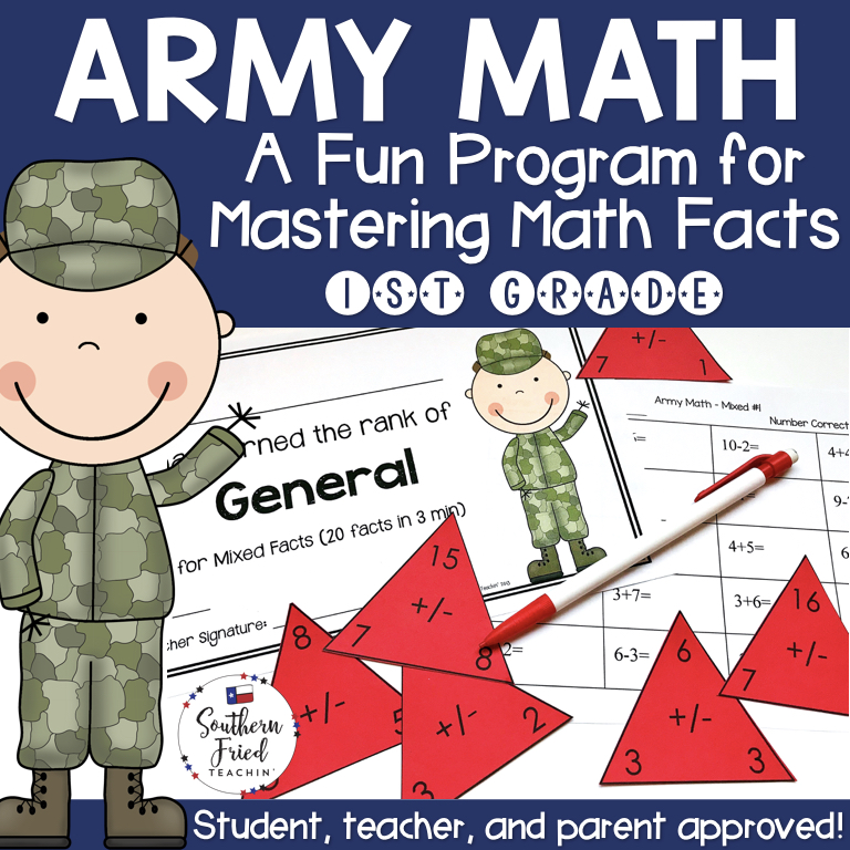 Math Facts Fluency Program First Grade (Addition & Subtraction ...