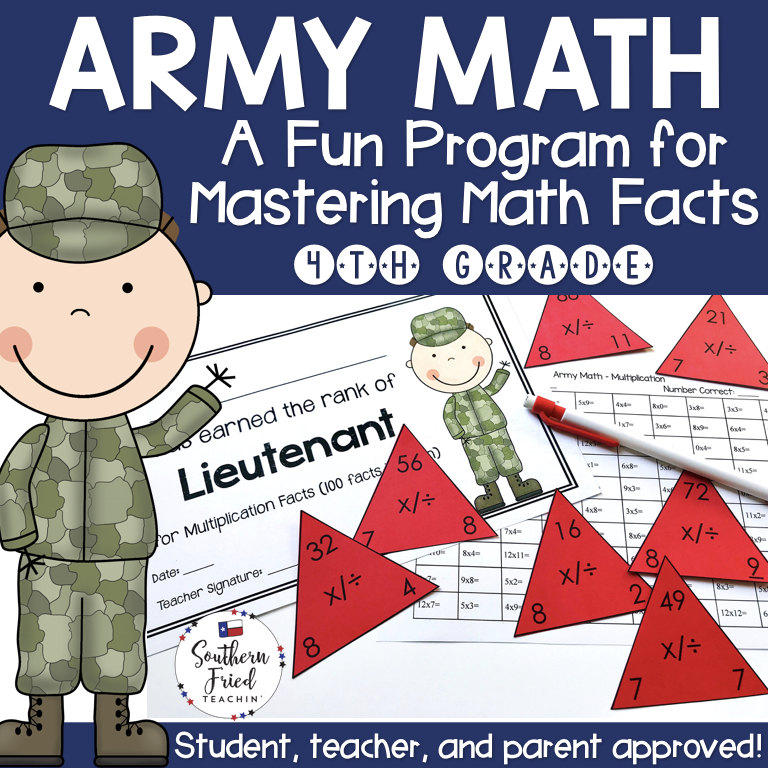 Math Facts Fluency Program Fourth Grade (All Operations) - Southern ...