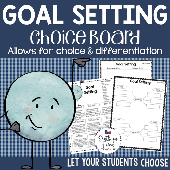 goal setting choice board