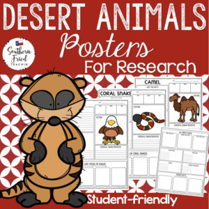 desert animals research projects