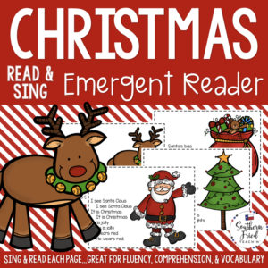 "This Christmas Early Reader is super unique to other readers...you not only read each page, you sing it to ""Where Is Thumbkin?"". Students love them! Also a FUN way to practice reading, increase fluency through singing and repetition, and improve vocabulary."
