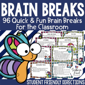 This is a set of 96 FUN & ENGAGING Brain Breaks, which are perfect to refocus and reenergize your students during lessons. They are simple and fun quick movement cards with student-friendly directions. There is a huge variety so that your students will never get bored with them!