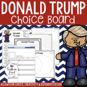 Make learning about presidents FUN! This choice board on Donald Trump brings student choice, creativity, and differentiation to your classroom, and your students will love it!