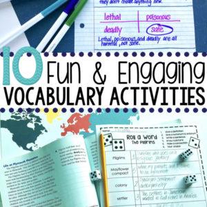 10 Fun & Engaging Vocabulary Activities