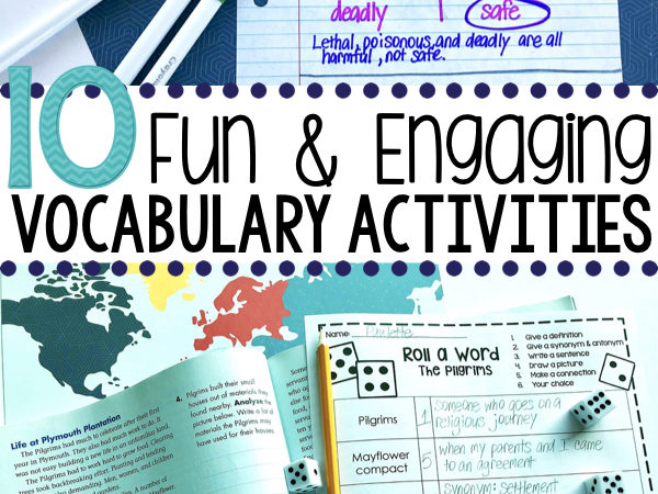 10 Fun & Engaging Vocabulary Activities