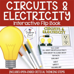 This engaging Circuits & Electricity Interactive Flip Book is an organized student resource that is load with critical thinking stems and questions which makes students really think. It can be used as a stand alone resource or for interactive notebooks. It can be used for so many things...note taking as a class, review, or even assessments. It is also great as a study tool for class and state assessments.