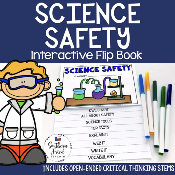 This engaging Science Safety Interactive Flip Book is an organized student resource that is load with critical thinking stems and questions which makes students really think. It can be used as a stand alone resource or for interactive notebooks. It can be used for so many things...note taking as a class, review, or even assessments. It is also great as a study tool for class and state assessments.