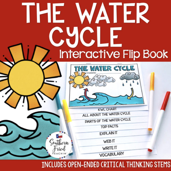 This engaging Sun & Water Cycle Interactive Flip Book is an organized student resource that is load with critical thinking stems and questions which makes students really think. It can be used as a stand alone resource or for interactive notebooks. It can be used for so many things...note taking as a class, review, or even assessments. It is also great as a study tool for class and state assessments.